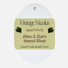 Vintage Nicolas Oval Ornament