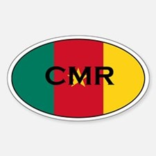 Cameroonian Decals Oval Decal