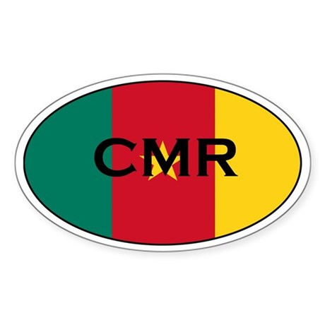Cameroonian Stickers Oval Sticker