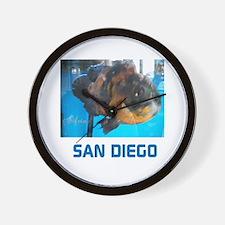 San Diego Avins Fish. Wall Clock