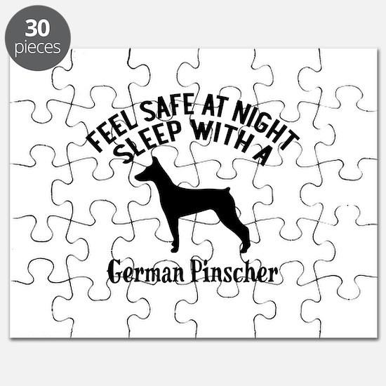 Sleep With German Pinscher Dog Designs Puzzle
