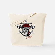 J Rowe Skull Crossed Swords Tote Bag