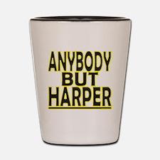 Anybody But Harper Shot Glass