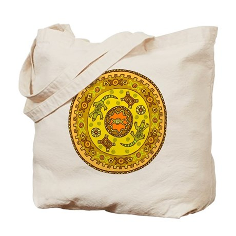 Circle with Lizards Tote Bag
