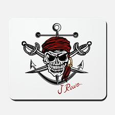 J Rowe Skull Crossed Swords Mousepad