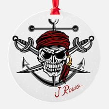 J Rowe Skull Crossed Swords Ornament