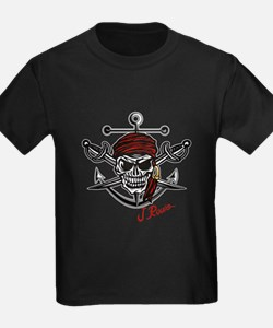 J Rowe Skull Crossed Swords T-Shirt