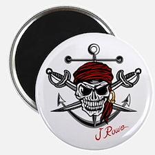 J Rowe Skull Crossed Swords Magnets