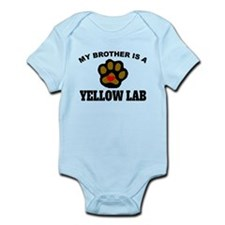 My Brother Is A Yellow Lab Body Suit