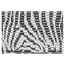 Zebra Binary Code Poster