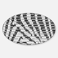 Zebra Binary Code Decal