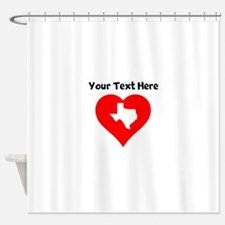 Texas Heart Cutout Shower Curtain