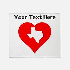 Texas Heart Cutout Throw Blanket