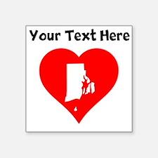Rhode Island Heart Cutout Sticker