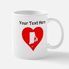 Rhode Island Heart Cutout Mugs