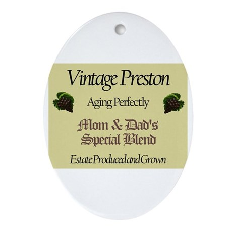 Vintage Preston Oval Ornament