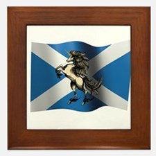 Cute Saltire Framed Tile