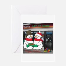 HAPPY HOLIDAYS SNOWMAN GETTY. Greeting Card