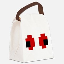 8 Bit Spooky Red Eyes Canvas Lunch Bag