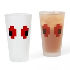 8 Bit Spooky Red Eyes Drinking Glass