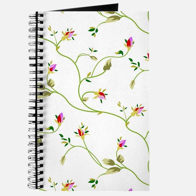 Elegant Roses Pattern Journal