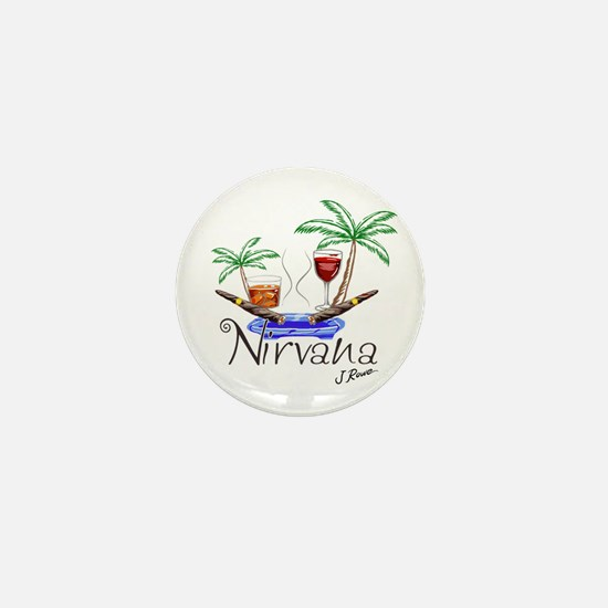 J Rowe Nirvana Cigars Mini Button