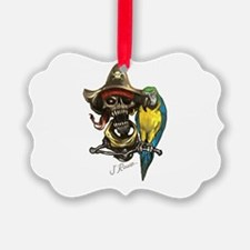 J Rowe Pirate & Parrot Ornament