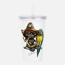 J Rowe Pirate & Parrot Acrylic Double-wall Tumbler