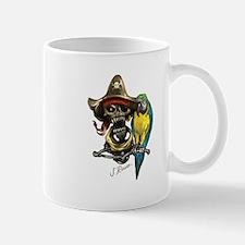 J Rowe Pirate & Parrot Mugs