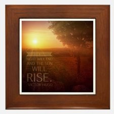 The Sun Will Rise Framed Tile