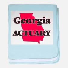 Georgia Actuary baby blanket
