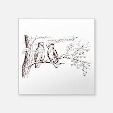 "Twin Peaks Owls Square Sticker 3"" x 3"""