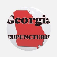 Georgia Acupuncturist Round Ornament