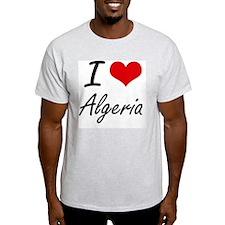 I Love Algeria Artistic Design T-Shirt