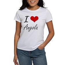 I Love Angola Artistic Design T-Shirt