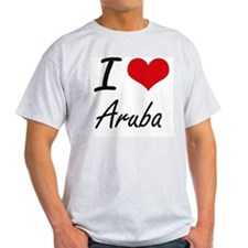 I Love Aruba Artistic Design T-Shirt