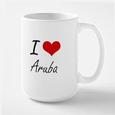 I Love Aruba Artistic Design Mugs