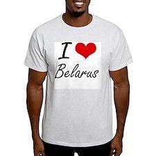 I Love Belarus Artistic Design T-Shirt