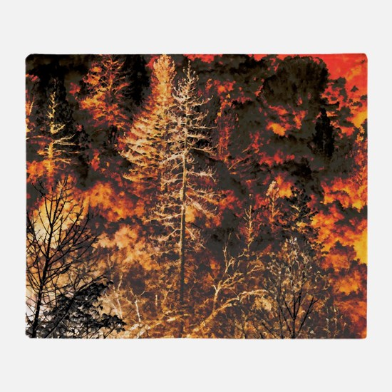 Wildfire! Throw Blanket