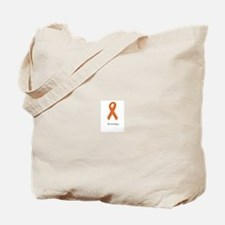 Strong. Orange ribbon Tote Bag