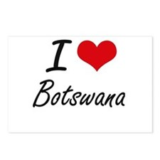 I Love Botswana Artistic Postcards (Package of 8)
