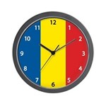 Romanian Flag Wall Clock