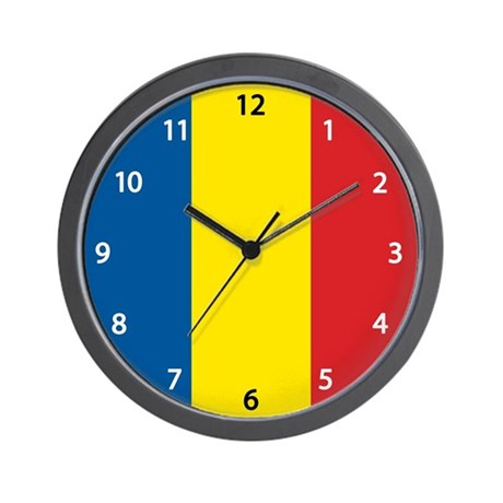Romanian Flag Wall Clock