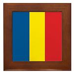 Romanian Flag Framed Tile