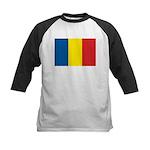 Romanian Flag Kids Baseball Jersey