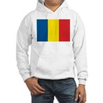 Romanian Flag Hooded Sweatshirt