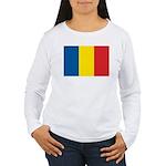 Romanian Flag Women's Long Sleeve T-Shirt