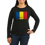 Romanian Flag Women's Long Sleeve Dark T-Shirt