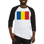 Romanian Flag Baseball Jersey
