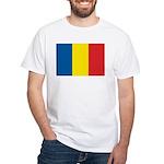 Romanian Flag White T-Shirt